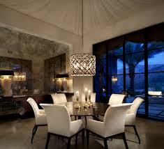 mediterranean lighting. Circular Light Fixture Dining Room Mediterranean With Stone Floor Rectangular Tables White Chairs Lighting
