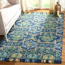 navy and green rug handmade blossom navy green wool rug