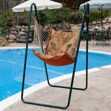 Soft Comfort Hammock Chair and Stand-Palm Stripe-Green - Walmart.com