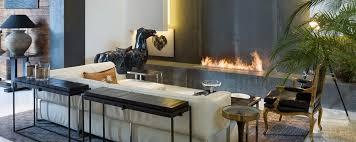 modern design fireplace installed with a bio ethanol burner insert