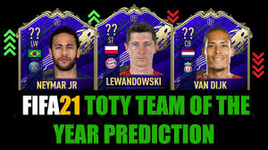 FIFA 21 | TOTY TEAM OF THE YEAR PREDICTION | W/LEWANDOWSKI, MESSI, DAVIES,  NEYMAR, DE BRUYNE... - YouTube