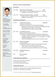 Curriculum Vitae Template Free Fascinating Best Curriculum Vitae Format Resume Templates Free Ideas On