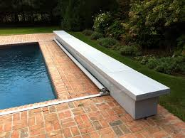 Automatic pool covers for odd shaped pools Crescent Shaped Coverstar Ondeck Track Automatic Swimming Pool Covers