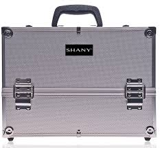 Amazon.com : SHANY Essential Pro Makeup Train Case with Shoulder Strap and  Locks - Silver : Makeup Train Cases : Beauty