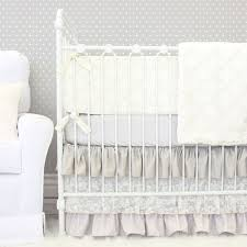 A gorgeous neutral tone crib bedding that can look elegant in a  sophisticated baby girlu0027s nursery