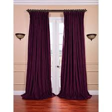 signature eggplant double wide velvet blackout pole pocket curtain can order swatches