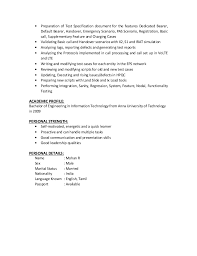 Good Qualities For A Resume Adorable Mohan R Resume
