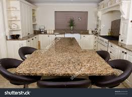 Granite Kitchen Worktop Modern Contemporary Kitchen Interior Granite Worktop Stock Photo