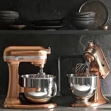 copper kitchenaid pro line stand mixer metallic series