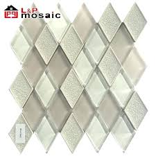 us ceramic tile mixed clear glass diamond mosaic for interior wall decoration adhesive