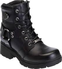 harley davidson jocelyn leather biker boot women s