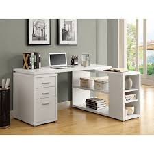 tiny white desk for teenager integrated l shaped chic corner office desk