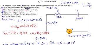 splendid ac circuit example rc series calculate capacitance full size