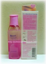 this pink bottle of biore makeup remover for eye lip is my cur eye and lip makeup remover