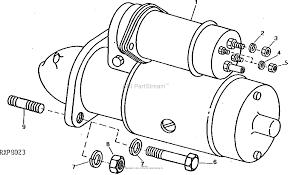 John deere parts diagrams john deere 1020 ru tractor pc0970 starting motor electrical
