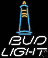 Bud Light Lighthouse Bud Light Lighthouse Real Neon Glass Tube Neon Sign