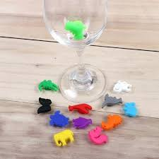 decorated wine glasses for birthday animal silicone glass charms wedding party decoration 1 hand painted 60th