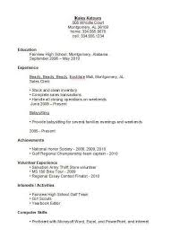 Resume Templates For Highschool Students Gorgeous Resume Template For High Students Photos ☁ Resume Template High