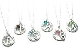 swarovski initial necklace personalized crystal pendant