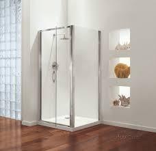 coram premier shower enclosures premier swing door 800mm white plain glass door only