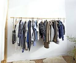hanging closet rod wardrobe racks awesome clothes rods for