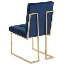 Maccio Stuhl Blau Gold Velvet