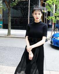 黒髪タイトウェットショート Short2019 Fashion 黒髪