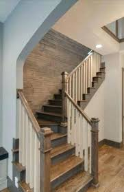 basement stairs railing. Stairwell Ideas Basement The New Craftsman Contemporary  Staircase And Planked Wall Stair Railing Stairs