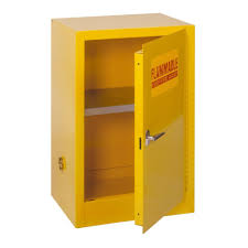 Yellow Flammable Cabinet Edsal 35 In H X 23 Inw X 18 In D Steel Freestanding Flammable