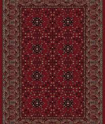 viscount rug deep red