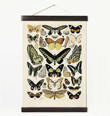 Vintage Canvas Butterfly Hanging Poster Handmade Loves