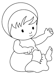 Simple Color Baby Coloring Pages To