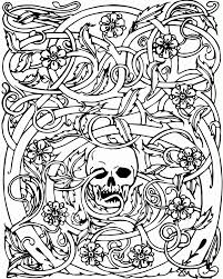Small Picture Adult Coloring Pages Halloween Coloring Home