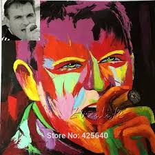 custom portrait personalized canvas oil painting art from photo hand painted francoise nielly palette knife face jpg
