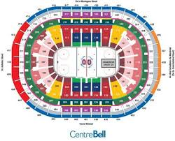 Montreal Canadiens Bell Center Seating Chart Bell Centre Seating Chart Montreal Canadiens Game