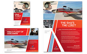 Ad Templates Aviation Flight Instructor Flyer Ad Template Word Publisher
