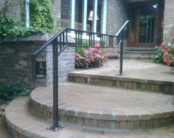 image of cool outdoor step handrail interior metal handrails residential design ideas smart interior metal handrails stair