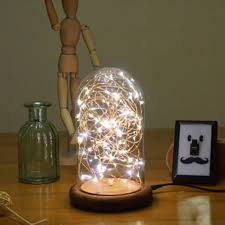 Hot Table Lamp Usb Led Night Light Line Light With Glass Cover