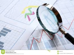Magnifying Glass And Chart Stock Photo Image Of Industry