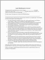 Free Landscape Maintenance Contract Template Amazing Free Lawn