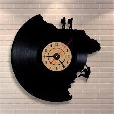 wall clock art black color