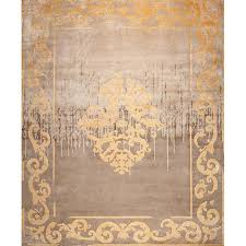 cream and gold rug amiral shadow vintage
