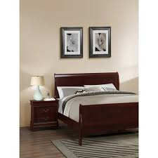 Louis Bedroom Furniture Louis Phillipe Cherry Storage Bedroom Set Dcg Stores