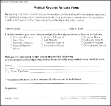 Sample Medical Authorization Letter Custom Medical Records Forms Template Blank Release Form Request Generic