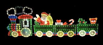4 piece holographic lighted motion train set christmas outdoor decoration 8 5