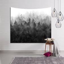 printed mountain forest carpet on wall art tapestry wall hanging square beach blanket throw modern decorative wall tapestries wall cloth tapestry wall