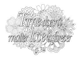 Coloring Pages Love Quotes For Adults Colorings Sheets Myself