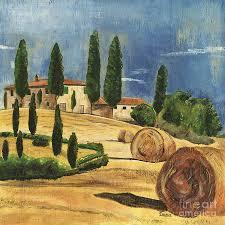 hill painting tuscan dream 2 by debbie dewitt
