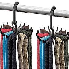 2019 rotating tie rack organizer hanger closet organizer hanging storage scarf rack tie rack holds 20 neck ties hook wn333 from cariel 0 6 dhgate com