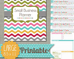 small business planner printable set sized large 85 x 11 pdf bussiness planner